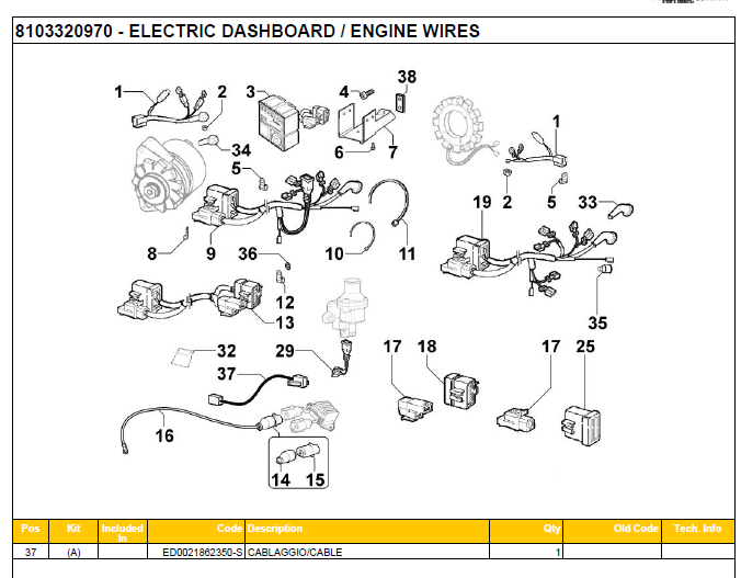 ELECTRIC DASHBOARD-ENGINE WIRES