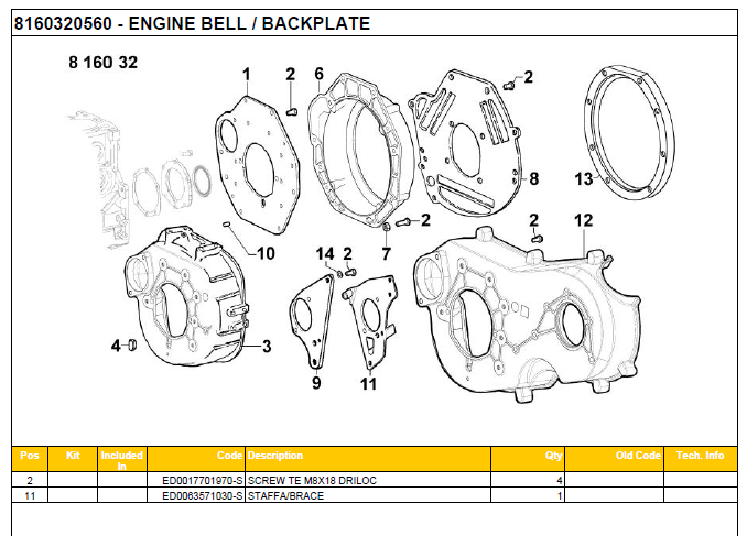 ENGINE BELL-BLACKPLATE