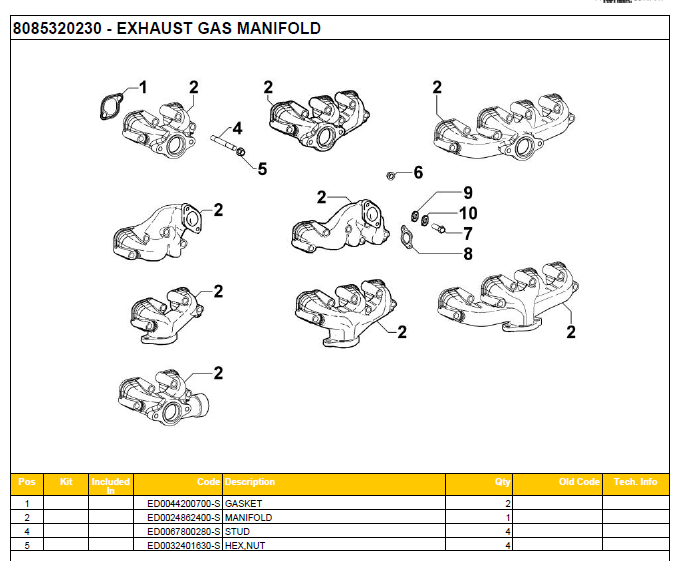 EXHAUST GAS MANIFOLD