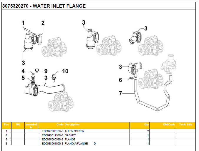 WATER INLET FLANGE