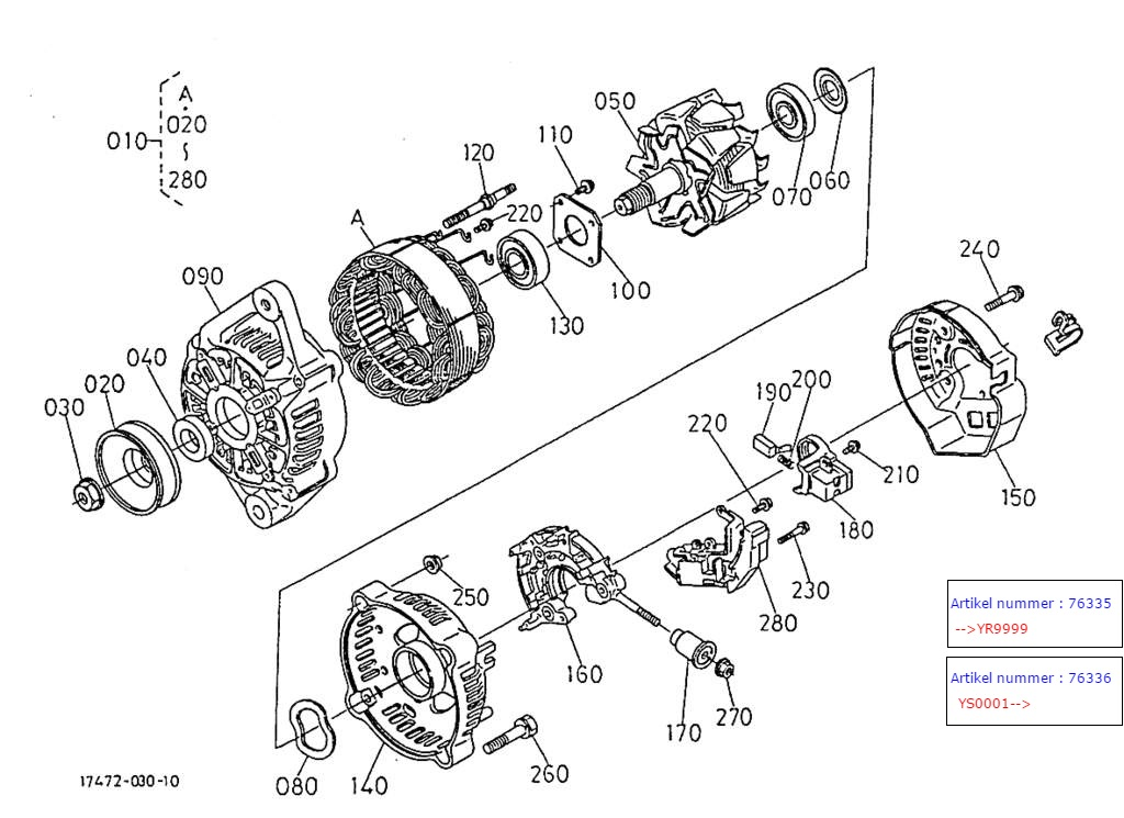 alternator  component parts